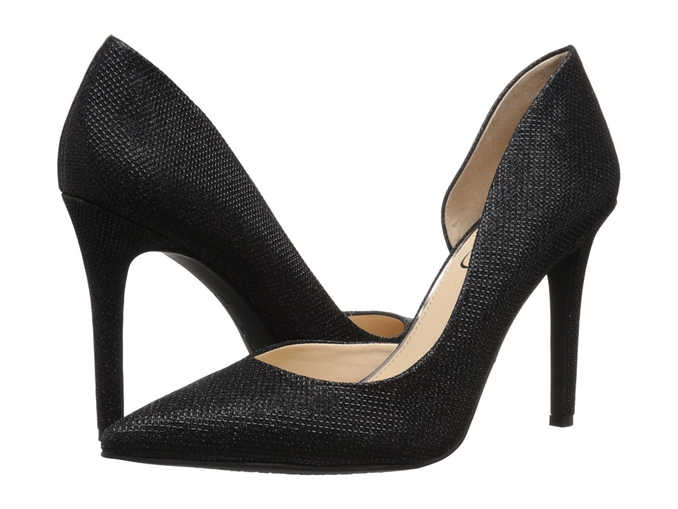 Jessica Simpson - Claudette (Black Jessica Simpson Sparkle Mesh) High Heels