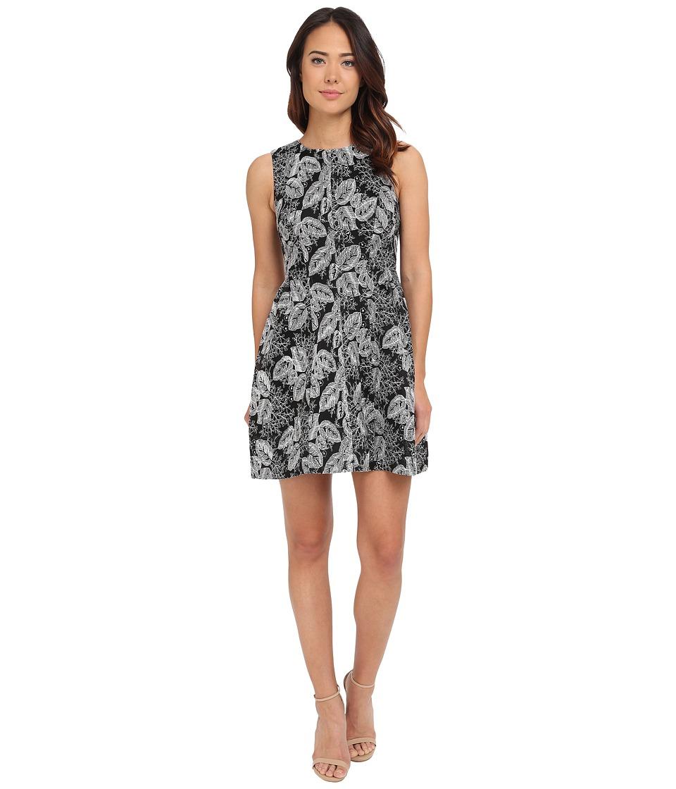 Calvin Klein - Lace Scuba Fit Flare Dress CD5M8R8Y (Black/Cream) Women's Dress