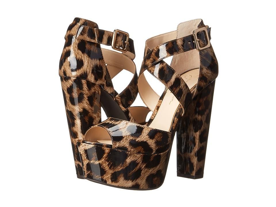 Jessica Simpson - Derian (Natural Leopard Patent) High Heels