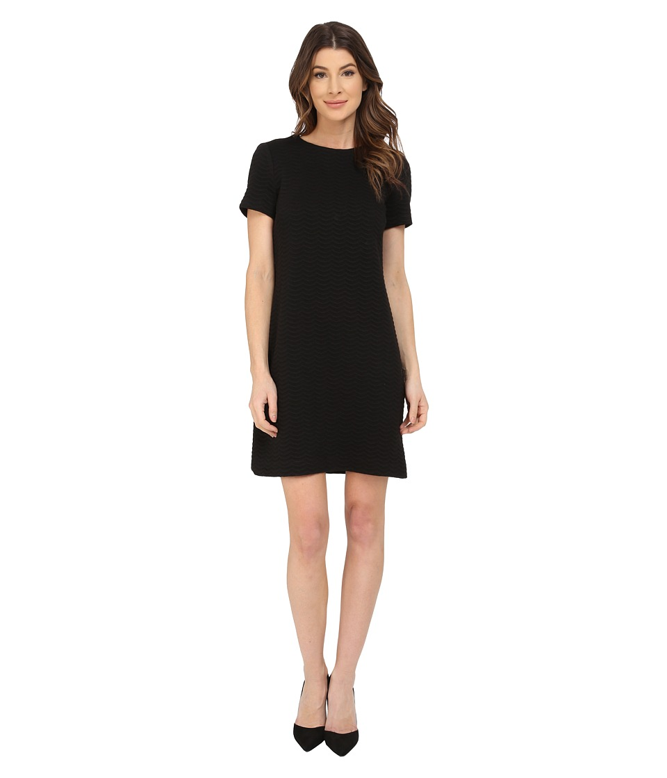 Calvin Klein - Textured Ponte Shift Dress CD5P2R2J (Black) Women's Dress