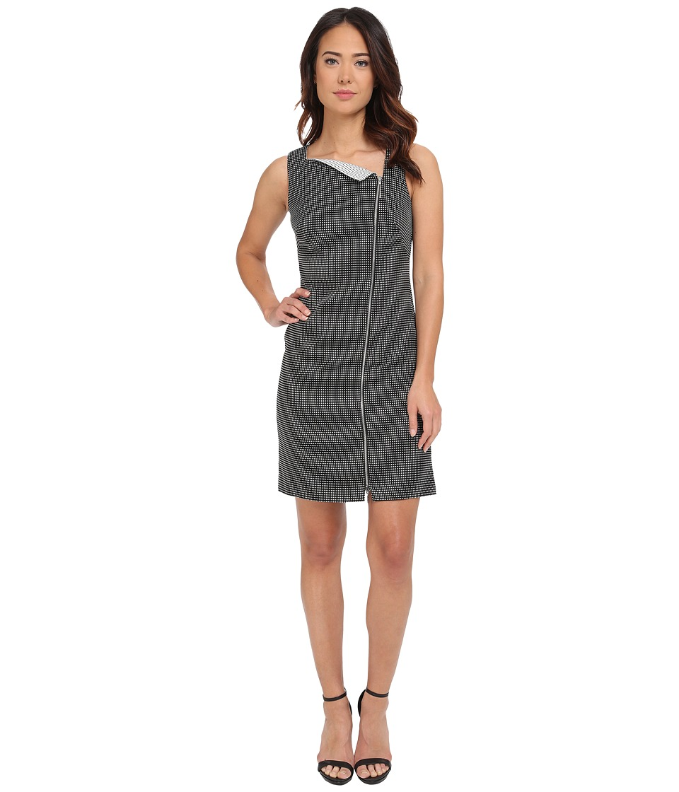 Calvin Klein - Side Zip Sheath Dress CD5X2Q3B (Black/White) Women's Dress
