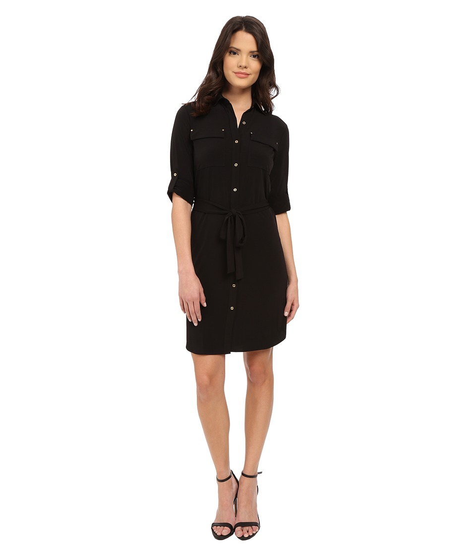 Calvin Klein - Shirtdress CD6A1D8Z (Black) Women's Dress