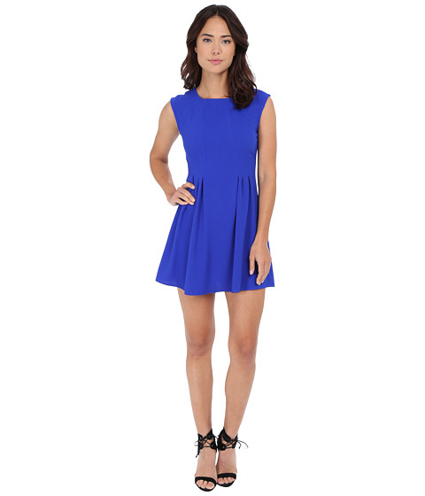 Gabriella Rocha - Crepe Cap Sleeve Fit Flare Dress (Royal Blue) Women's Dress
