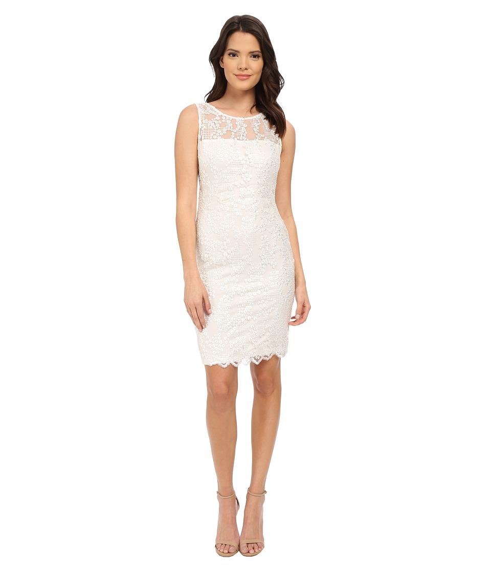 Calvin Klein Lace Sheath Dress CD5B4M6C (Ivory) Women