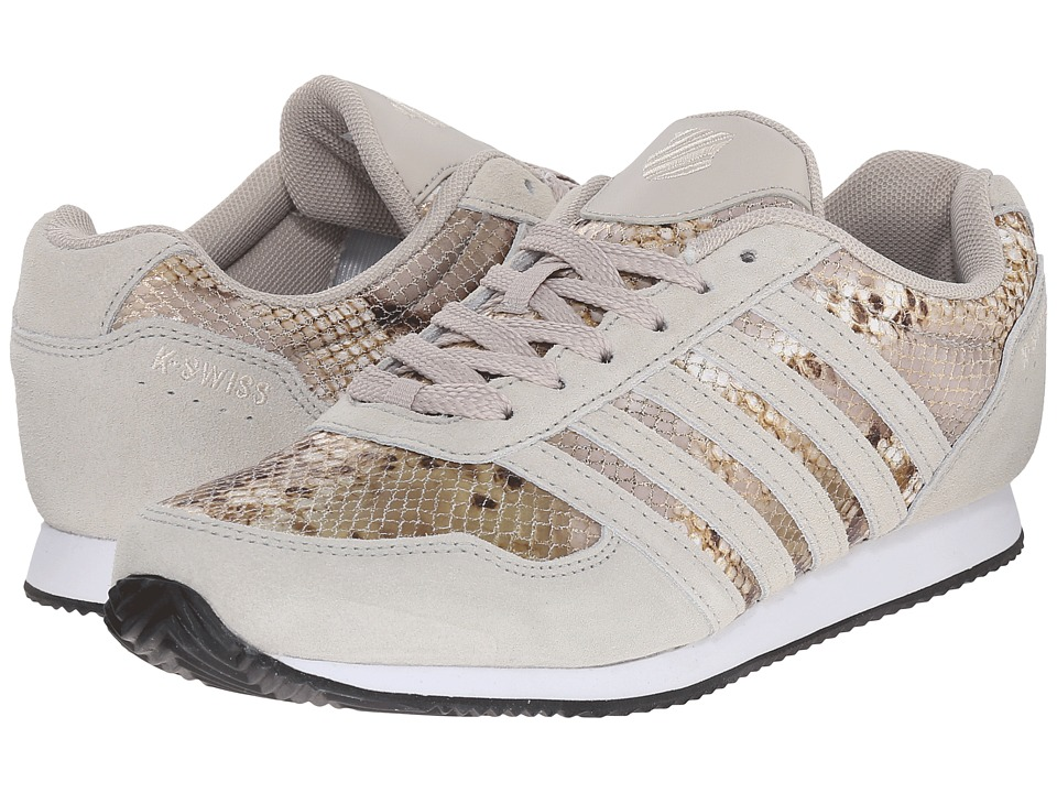 K-Swiss New Haven CMF (Rainy Day/Antique White/Snake Suede) Women