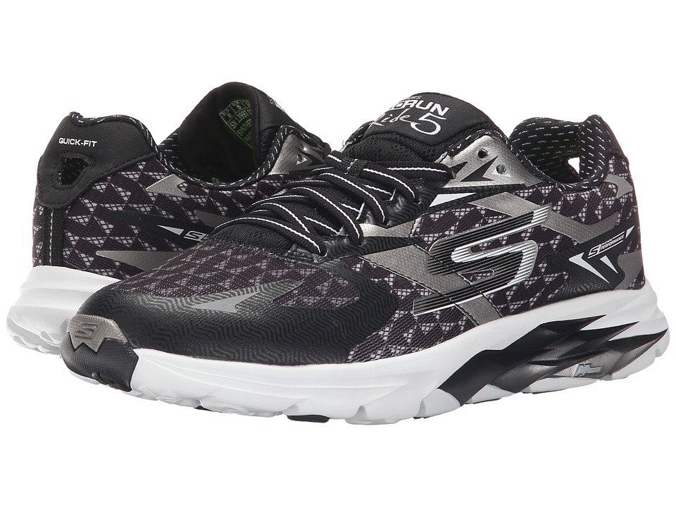SKECHERS - Go Run Ride 5 (Black/White) Women's Running Shoes