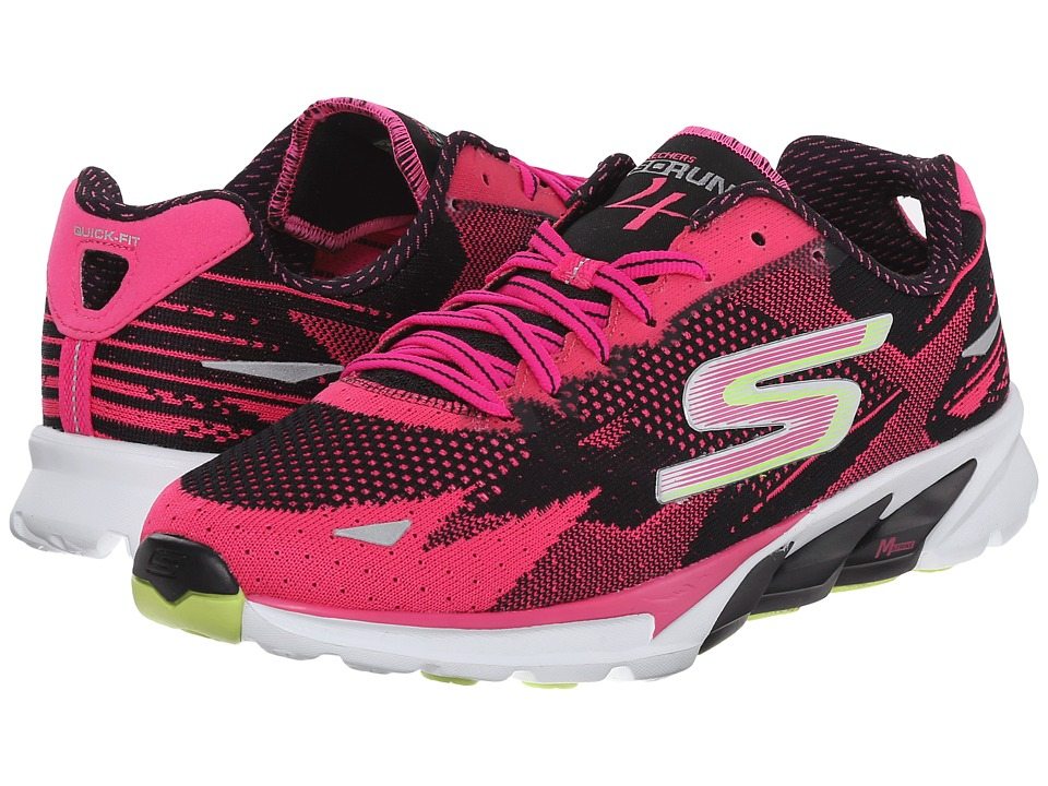 SKECHERS - Go Run 4 - 2016 (Black/Pink) Women's Running Shoes