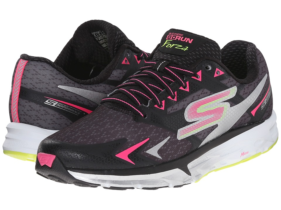 SKECHERS - Go Run Forza (Black/Pink) Women's Running Shoes