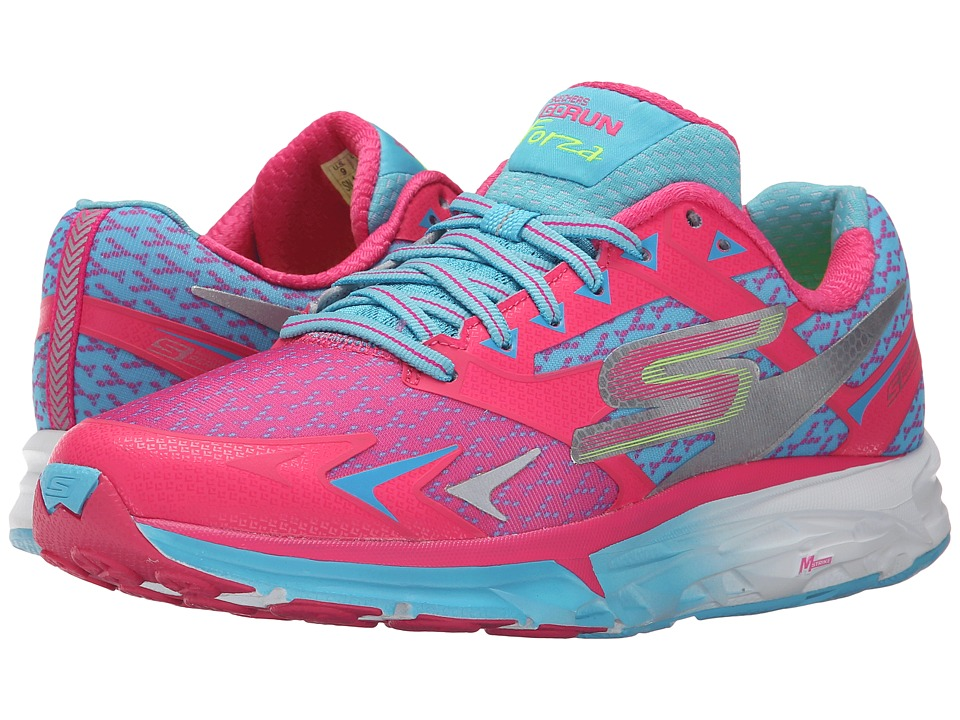 SKECHERS - Go Run Forza (Hot Pink/Blue) Women's Running Shoes