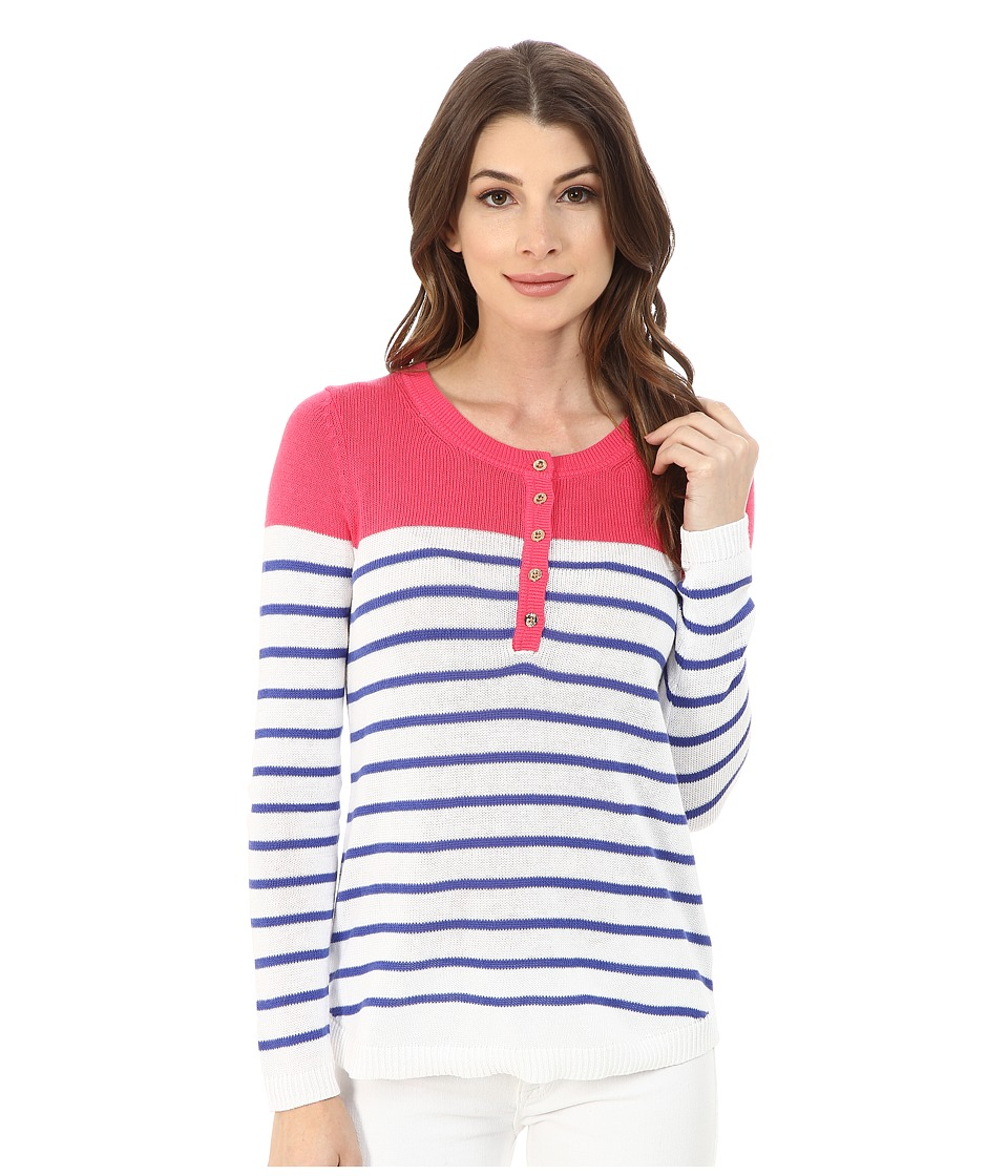 Lilly Pulitzer - Adair Sweater (Lipstick Pink Beach Getaway Stripe) Women's Sweater