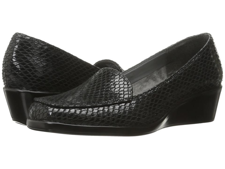 Aerosoles - Final Exam (Black Exotic) Women's Wedge Shoes