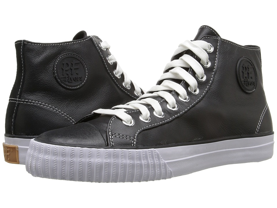 PF Flyers - Center Hi Leather (Black Leather) Men's Lace up casual Shoes