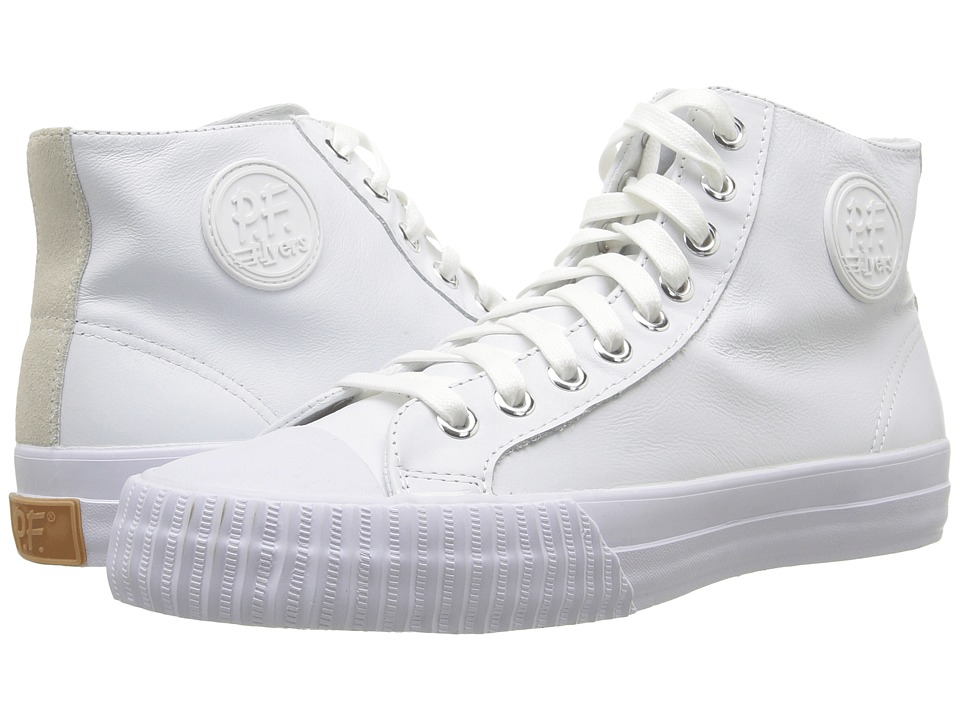 PF Flyers - Center Hi Leather (Natural Leather) Men's Lace up casual Shoes