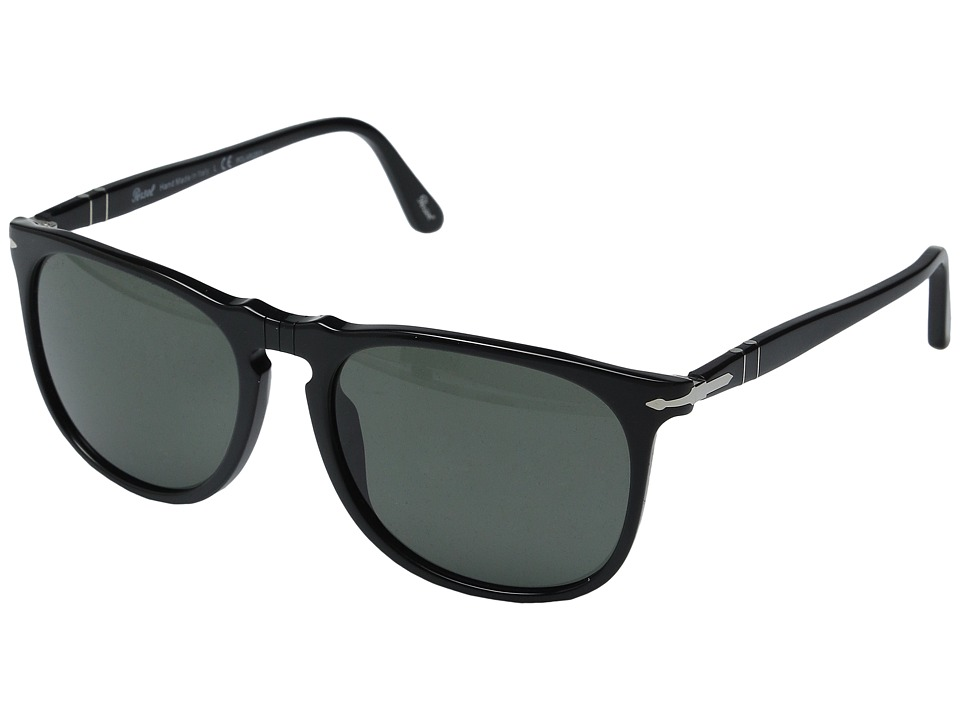 Persol - 0PO3113S (Black/Green Polarized) Fashion Sunglasses