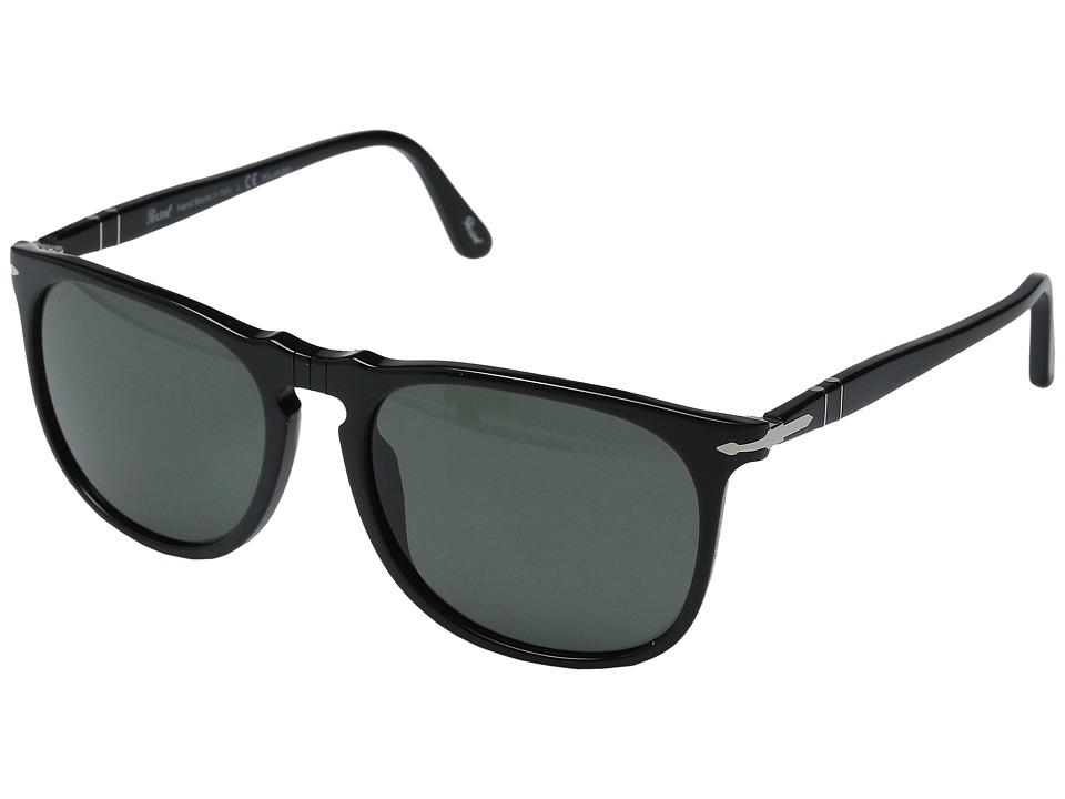 Persol - 0PO3113S (Black/Green Polarized) Fashion Sunglasses