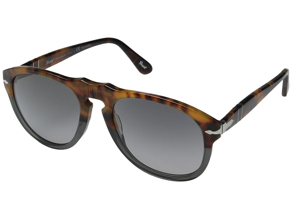 Persol - 0PO0649 (Dark Grey Tortoise/Grey Gradient Polarized) Fashion Sunglasses
