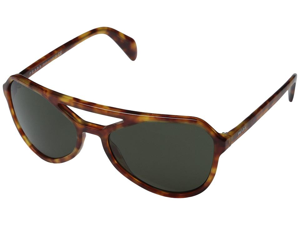 Prada - 0PR 22RS (Light Havana/Dark Green) Fashion Sunglasses