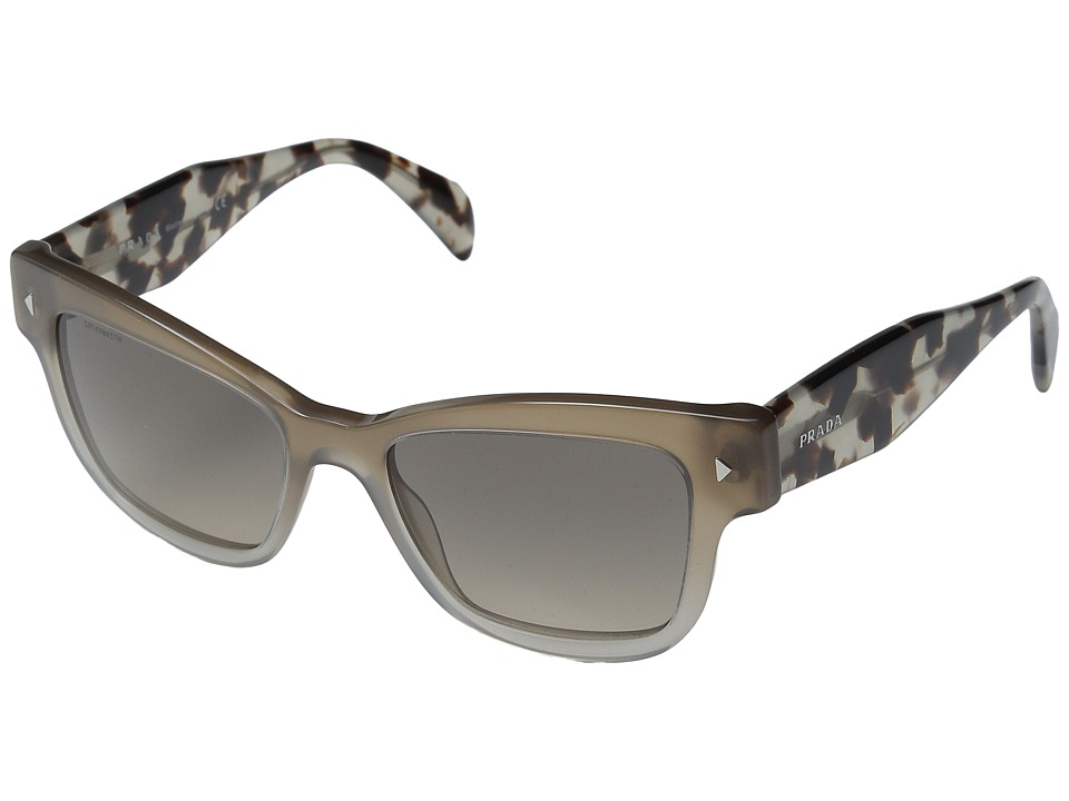 Prada - 0PR 29RS (Spotted Opal Brown/Gradient Grey) Fashion Sunglasses