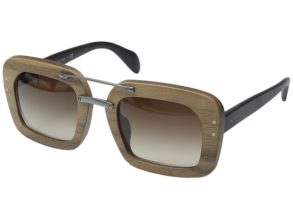 Prada - 0PR 30RS (Matte Havana/Brown Gradient) Fashion Sunglasses