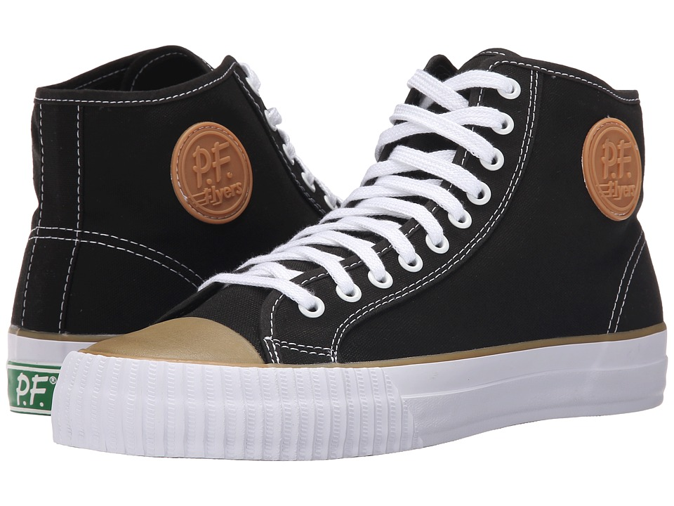 PF Flyers - Center Hi (Black Canvas) Men's Lace up casual Shoes