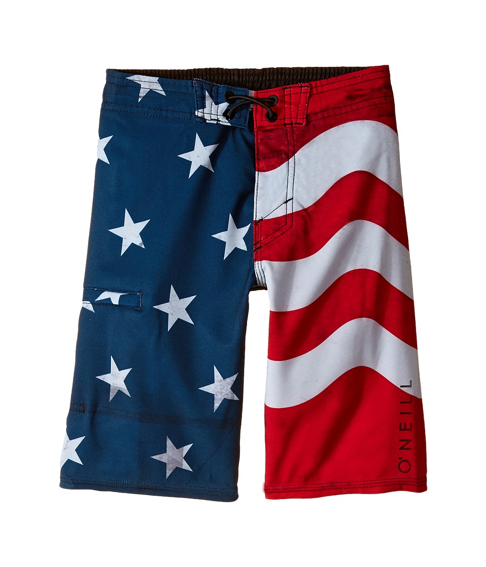 O'Neill Kids - Santa Cruz Stretch Boardshorts (Little Kids) (Red/White/Blue) Boy's Swimwear