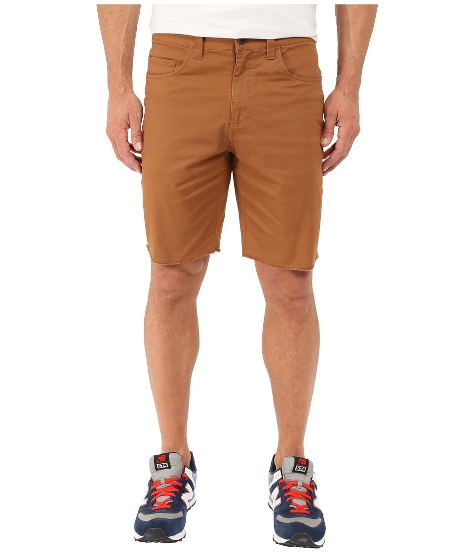 Brixton - Parker Standard Fit Five-Pocket Shorts (Copper) Men's Shorts