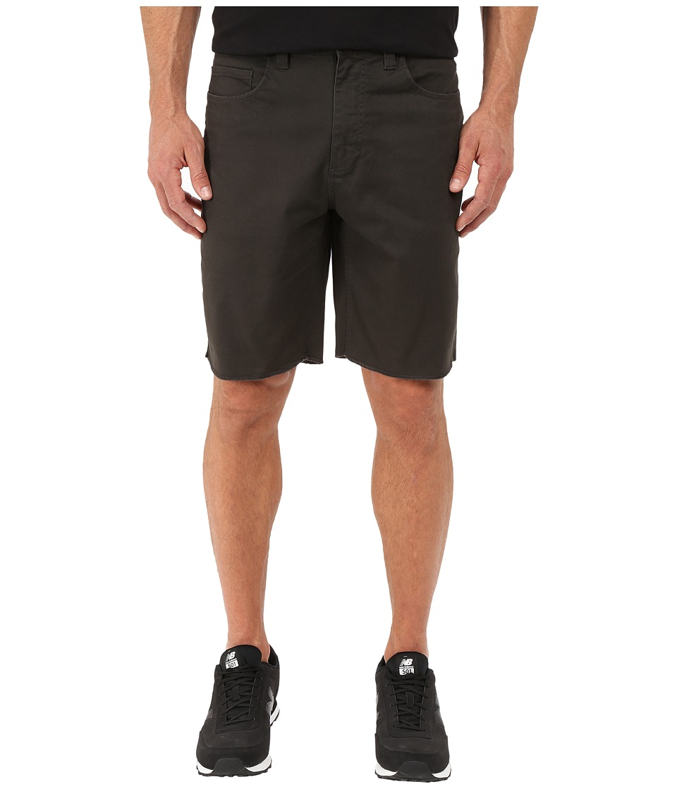 Brixton - Parker Standard Fit Five-Pocket Shorts (Washed Black) Men's Shorts