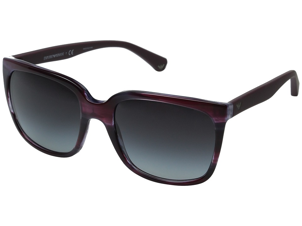 Emporio Armani - 0EA4049 (Striped Violet/Gradient Grey) Fashion Sunglasses