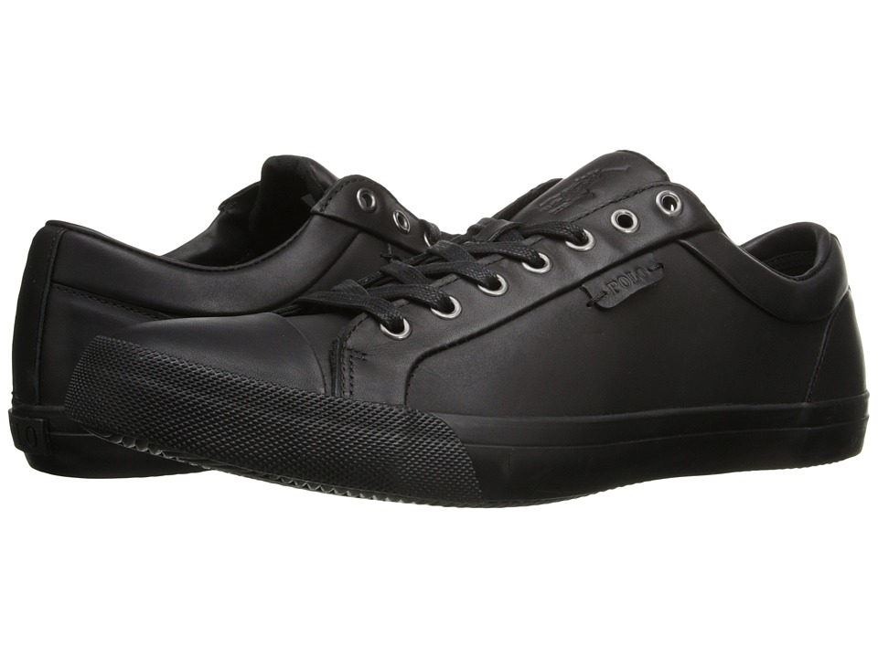 Polo Ralph Lauren - Geffrey (Black) Men's Lace up casual Shoes
