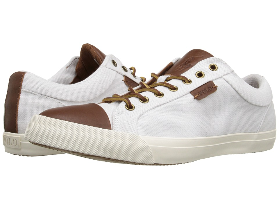 Polo Ralph Lauren - Geffrey (Polo White/Polo Tan) Men's Lace up casual Shoes
