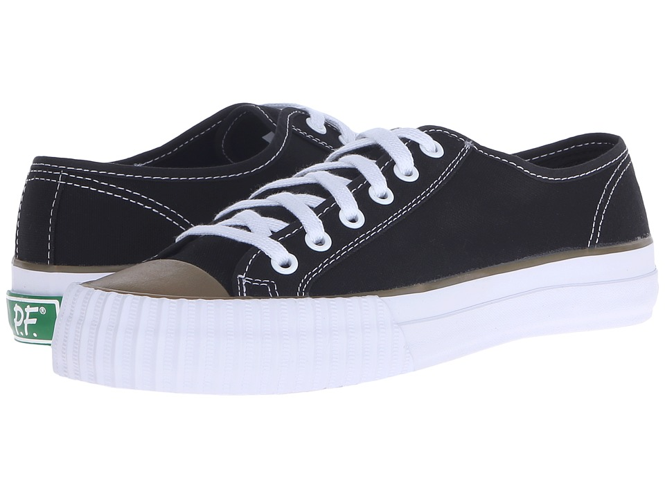 PF Flyers - Center Lo (Black Canvas) Men's Lace up casual Shoes