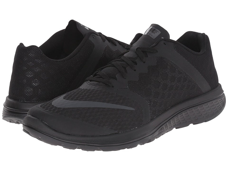 Nike - FS Lite Run 3 (Black/Anthracite/Black) Men's Running Shoes