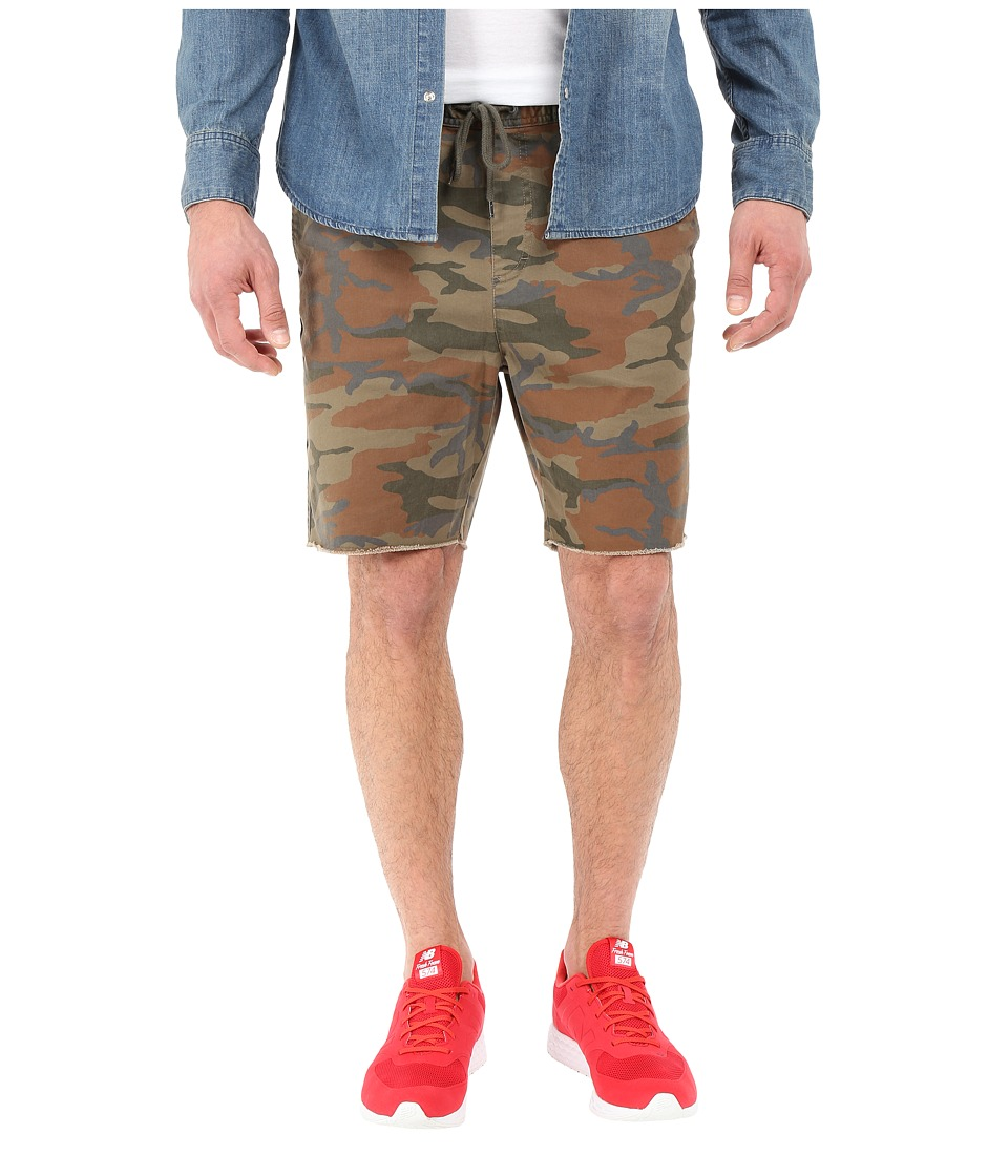Brixton - Madrid Relaxed Fit Drawstring Shorts (Camo) Men's Shorts