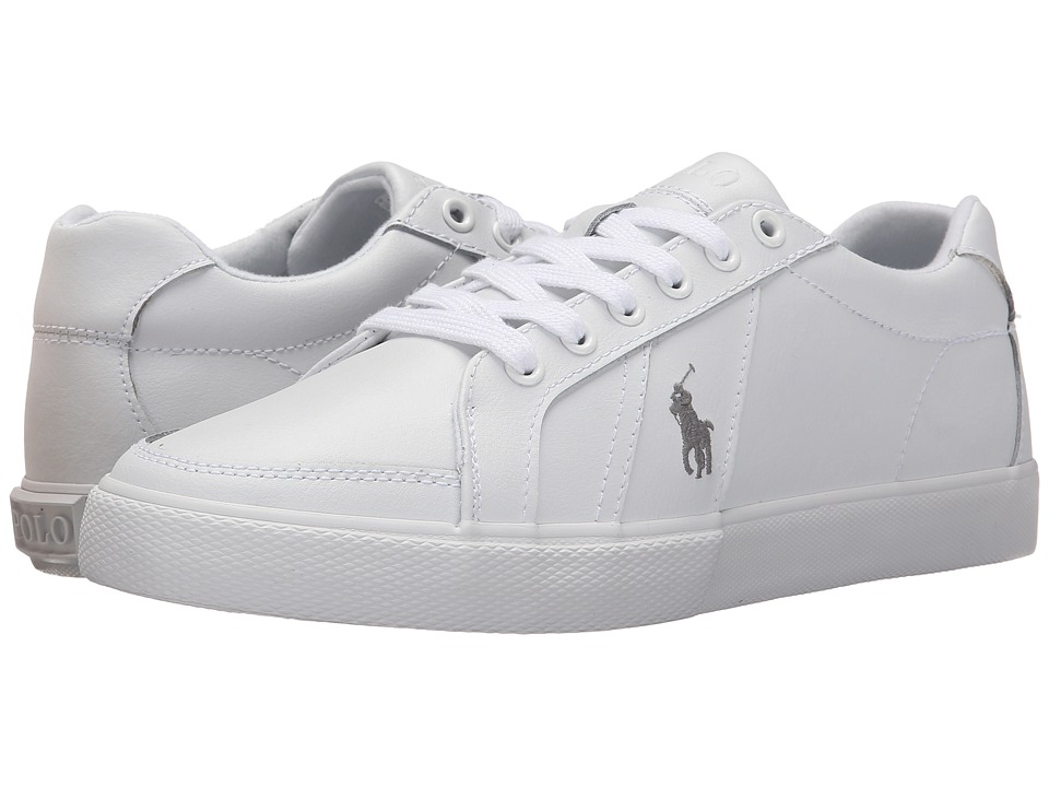 Polo Ralph Lauren - Hugh (White) Men's Lace up casual Shoes