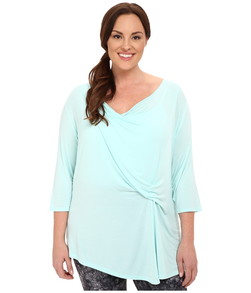 Marika Curves - Plus Size Hannah 3/4 Sleeve Top (Mint Eclipse) Women's Long Sleeve Pullover