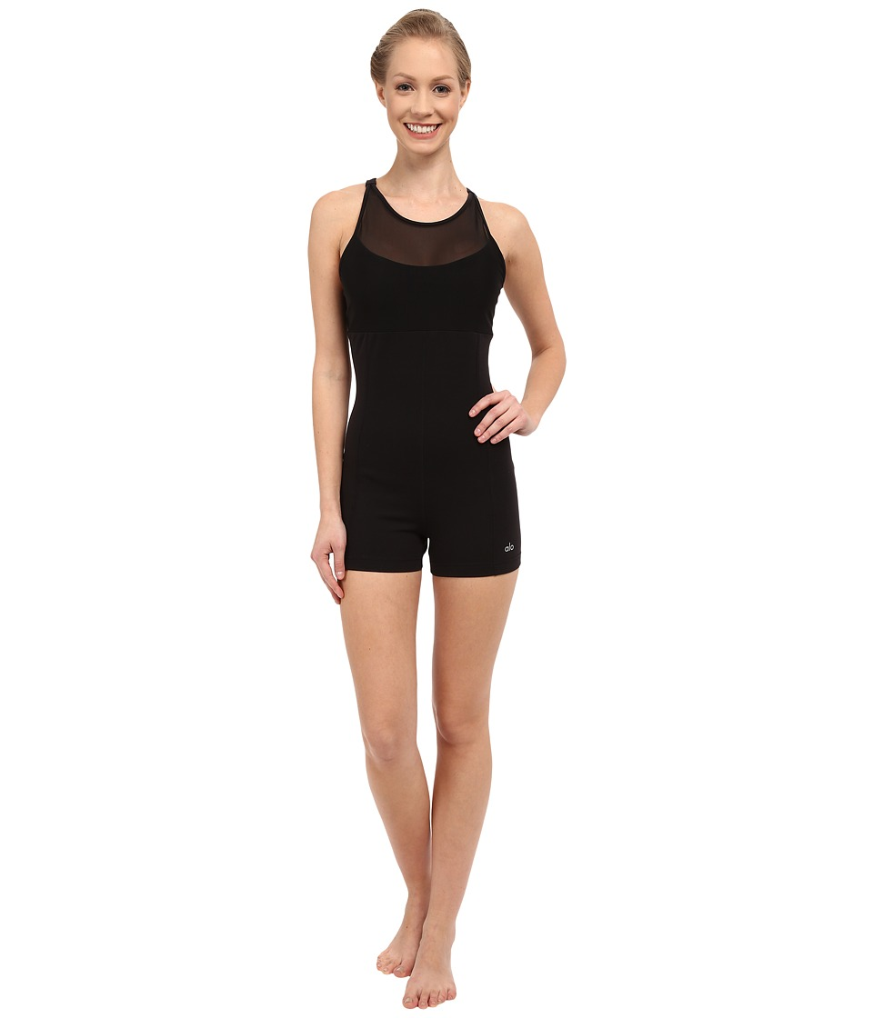 ALO - Sun Salute Unitard (Black) Women's Jumpsuit & Rompers One Piece