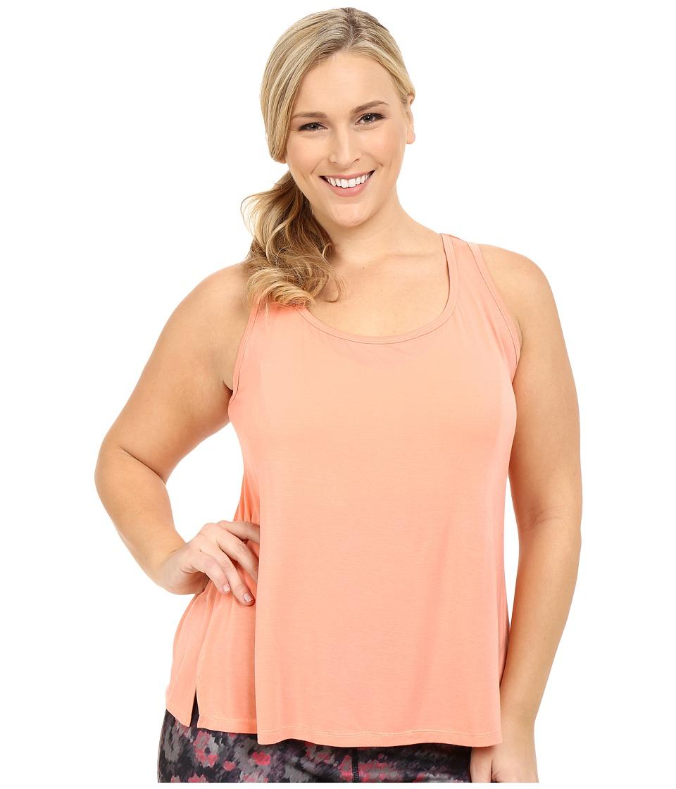 Marika Curves - Plus Size Essence Tank Top (Crisp Peach) Women's Sleeveless