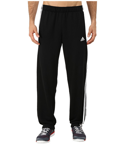 adidas - Essential 3 Stripe Pants (Black/White) Men's Casual Pants