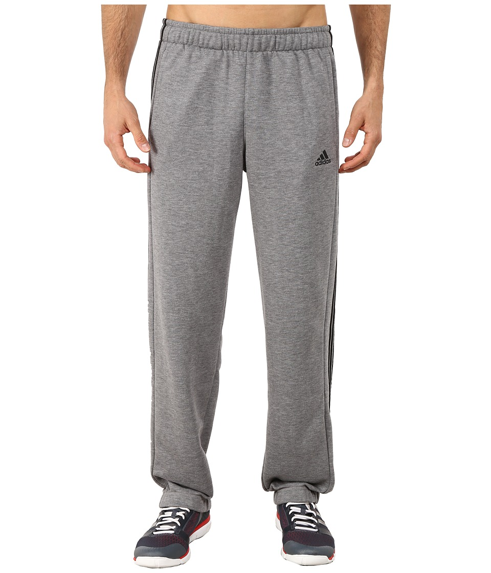 adidas - Essential 3 Stripe Pants (Heather Grey/Black) Men's Casual Pants