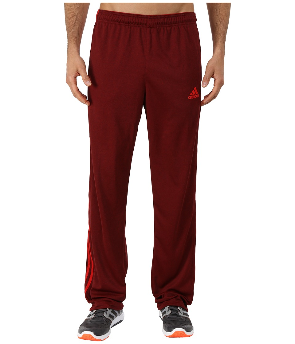 adidas - Climacore 3 Stripe Pants (Dark Grey/Scarlet Red) Men's Casual Pants