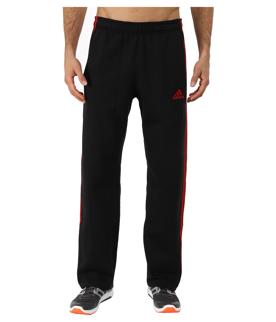 adidas - Essential Cotton Fleece Pants (Black/Scarlet Red) Men's Casual Pants