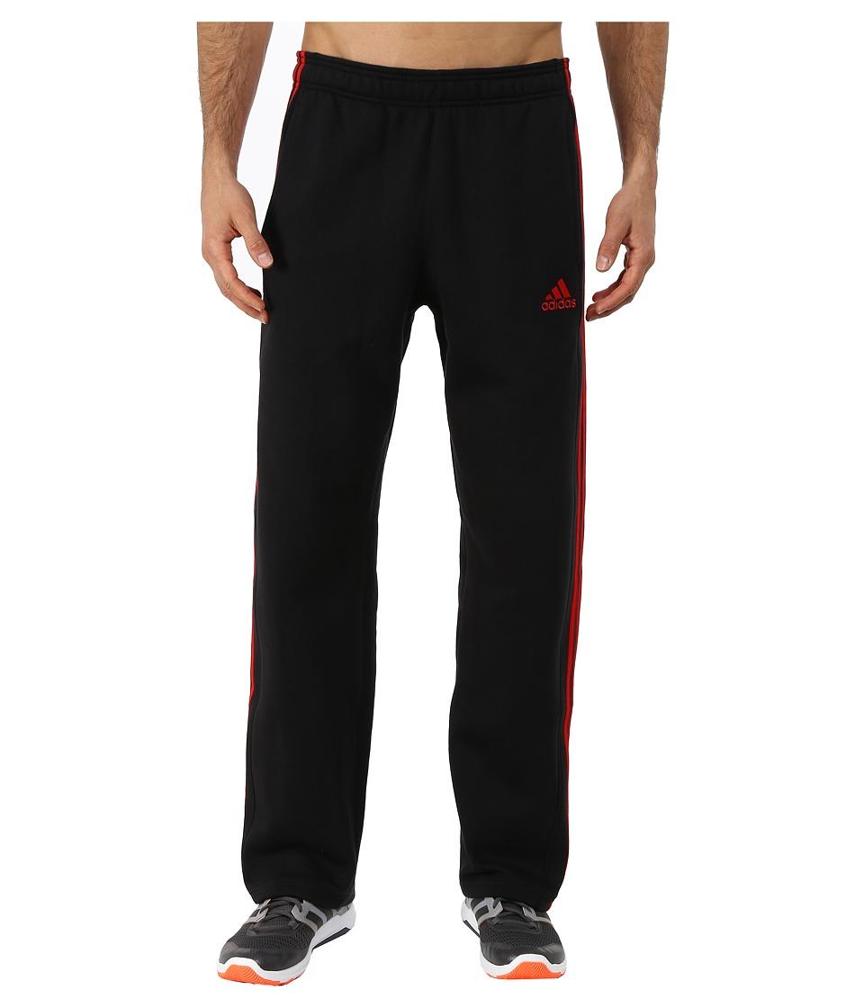 adidas - Essential Cotton Fleece Pants (Black/Scarlet Red) Men's Casual Pants