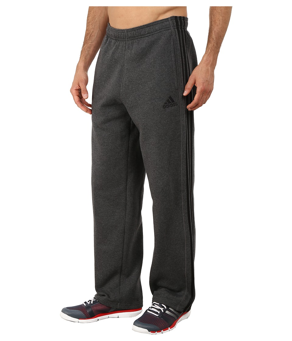 adidas - Essential Cotton Fleece Pants (Dark Grey Heather/Black) Men's Casual Pants