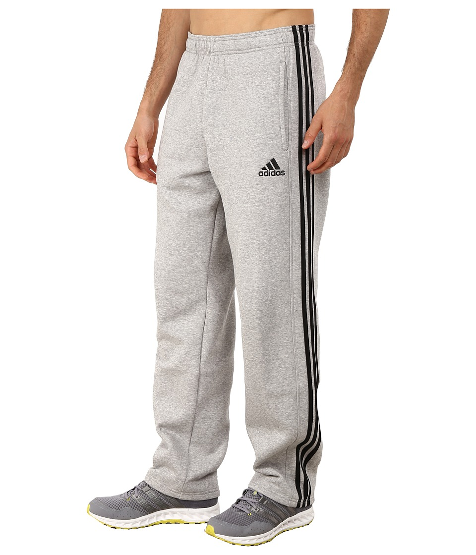 adidas - Essential Cotton Fleece Pants (Medium Grey/Black) Men's Casual Pants