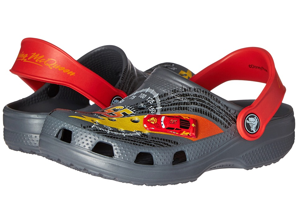 Crocs Kids - Classic McQueen Clog (Toddler/Little Kid) (Charcoal/True Red) Boys Shoes