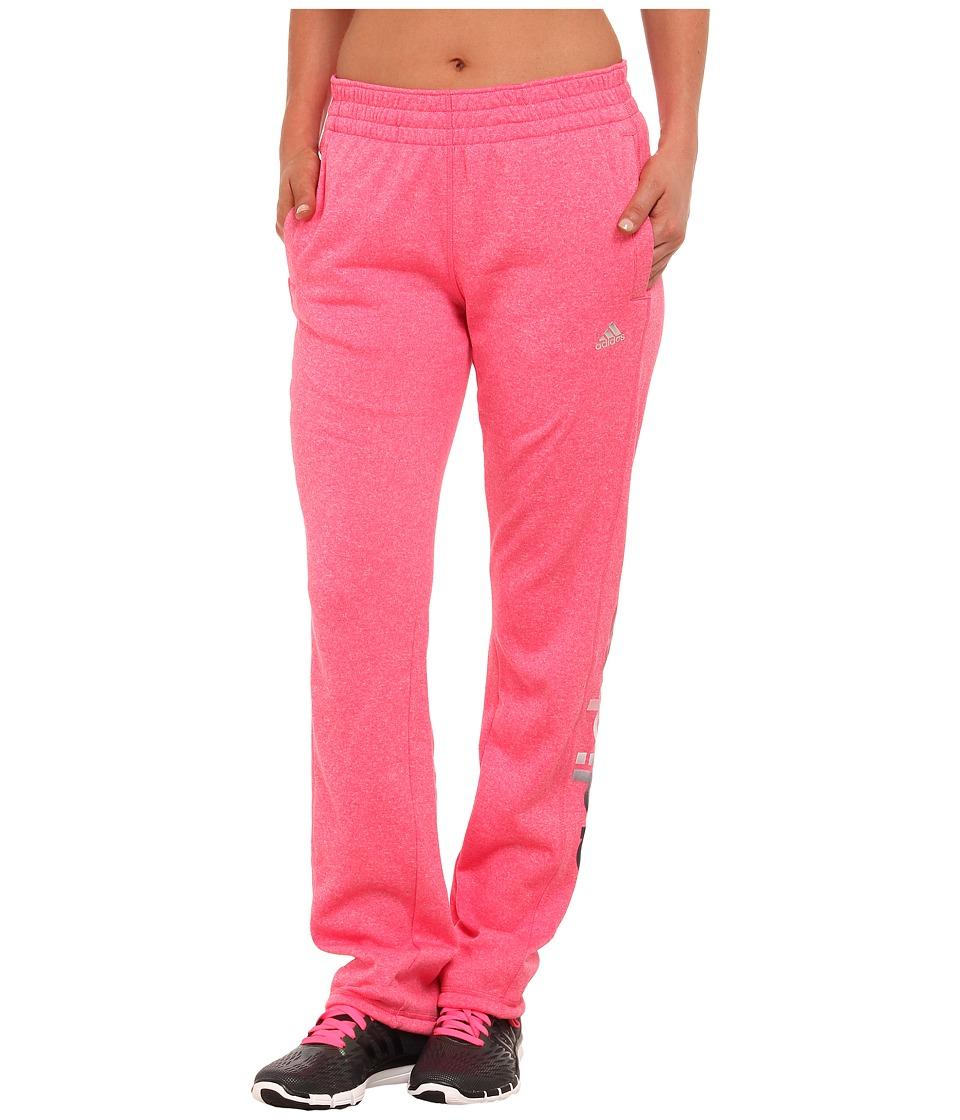 adidas - Ultimate Fleece Pants (Super Pink) Women