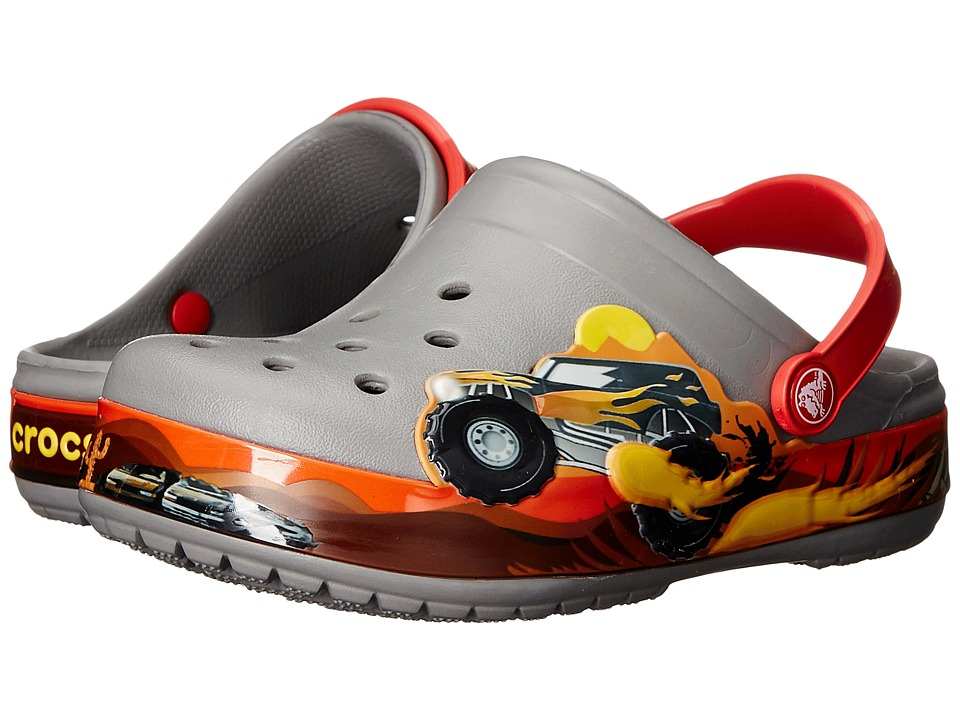 Crocs Kids - Crocband Monster Truck Clog (Toddler/Little Kid) (Smoke) Boys Shoes
