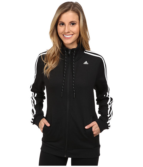 adidas - Essential 3 Stripe Track Top (Black/White) Women's Workout