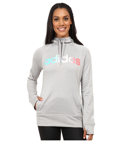 adidas - Ultimate Fleece Pullover Hoodie (Medium Grey Heather) Women's Sweatshirt