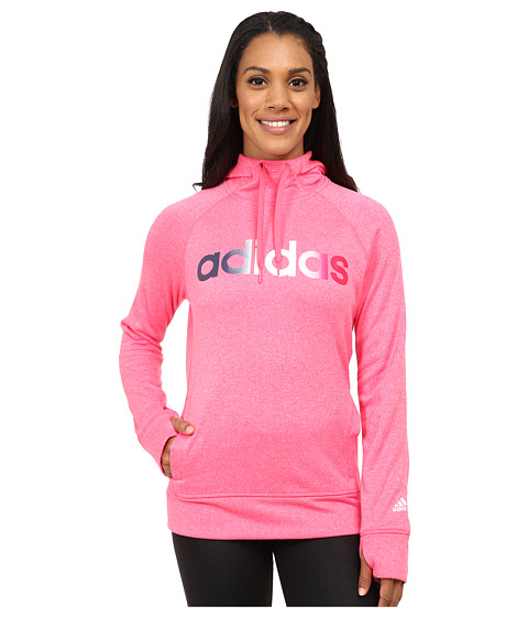 adidas - Ultimate Fleece Pullover Hoodie (Super Pink) Women's Sweatshirt